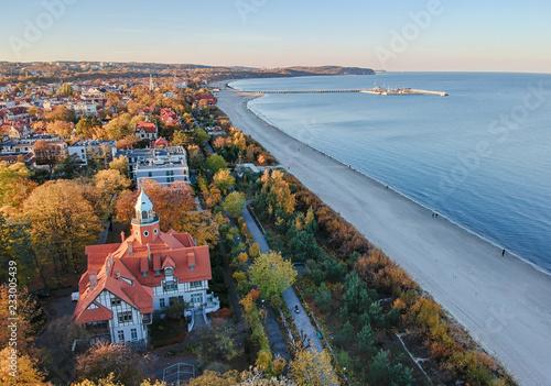 Photo  Aerial sea line landscape of Sopot