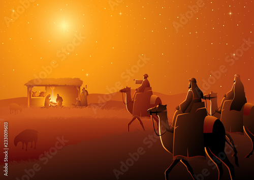 Three Wise Men Arrives Canvas-taulu