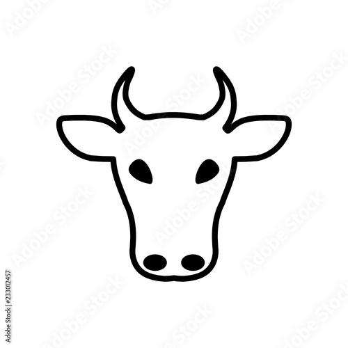 krowa ikona - fototapety na wymiar