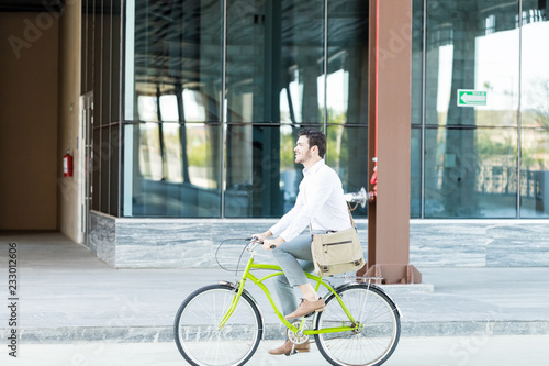 Fotografie, Obraz  Trying To Reduce Pollution By Riding Cycle