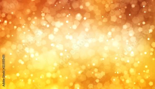 Fotografie, Obraz  Bokeh orange gold