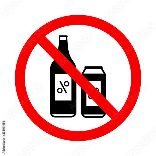 Tela znak zakaz spożywania alkoholu