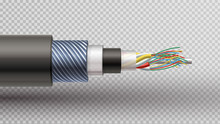 Rector Realistic  Illustration Of Fiber Optic Tight Buffered
