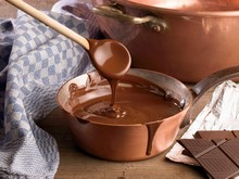 Melted Chocolate In Sauce Pan ...