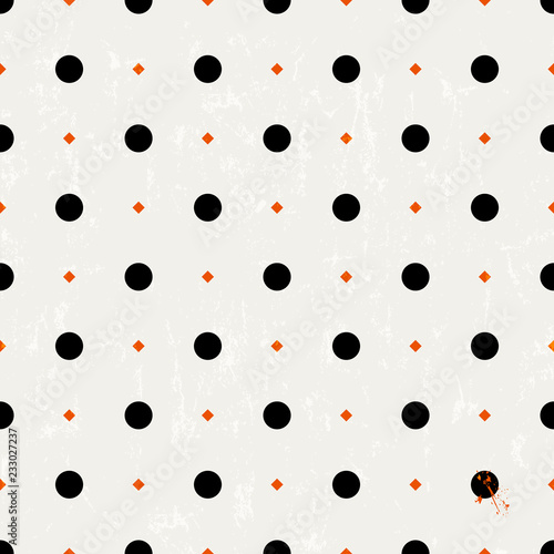 seamless polka dots background pattern, vector illustration