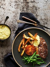 Steak With Bearnaise Sauce, Be...