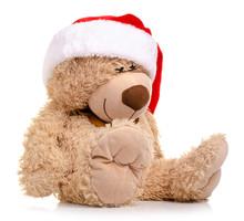 Christmas Toy Bear With Santa ...