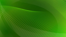Abstract Background Of Curved Surfaces And Halftone Dots In Green Colors