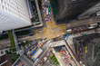 Aerial view of Hong Kong business district