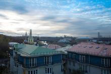 Panorama Of Moscow. View Of Lomonosov Moscow State University And Luzhniki Stadium.