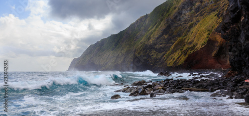 Poster Taupe atlantik azores coast