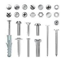 Realistic Fastening Items Set