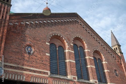 Copenhagen, Denmark - October 09, 2018: View of copenhagen central station, Fron Canvas Print