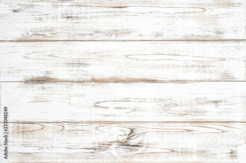 Wooden background white colored plank Natural wood pattern
