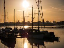 Sunrise In Preston Docks With ...
