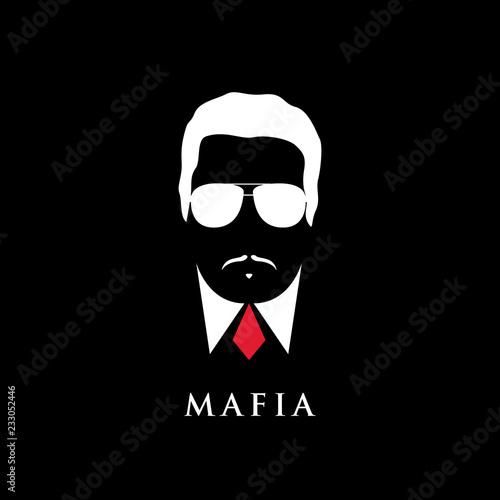 Obraz na plátně  Italian Mafioso portrait