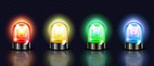 Siren Lights Vector Illustrati...