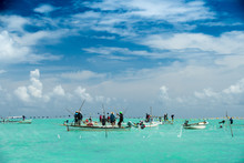 RODRIGUES ISLAND - Net Fishing In Lagoon