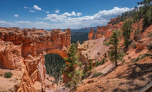 Natural Bridge Overlook At Bryce Canyon National Park