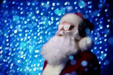 Santa In Snowy Glasses