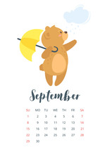 2019 Cute Teddy Bear Calendar