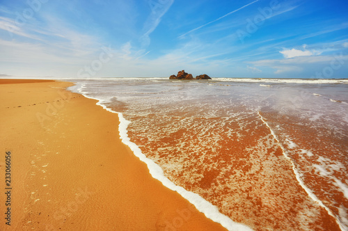Fotografia  stunning beach on the Atlantic ocean