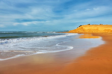 Beautiful Atlantic Ocean Landscape Somewhere Between Essaouira, Morocco