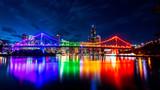 Fototapeta Tęcza - Rainbow Story Bridge
