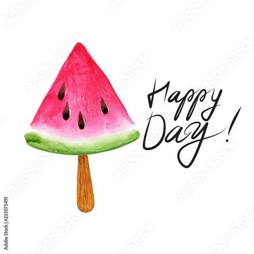 Obraz na plátně Fruit Ice Cream icons