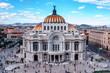 Leinwanddruck Bild - Bellas Artes (Palace of fine art) in Mexico City