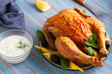 Chicken With Greek Tzatziki Sa...