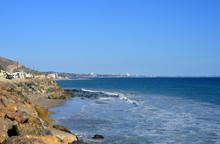 Malibu, California, Beach And View To Los Angeles