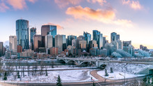 Calgary's Skyline On A Cool Wi...