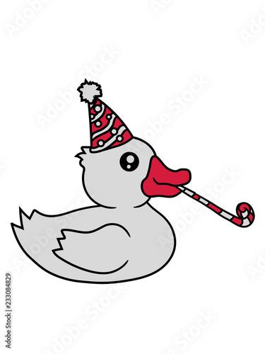 Geburtstag Feiern Party Jahre Alt Hut Quietscheente Gummiente