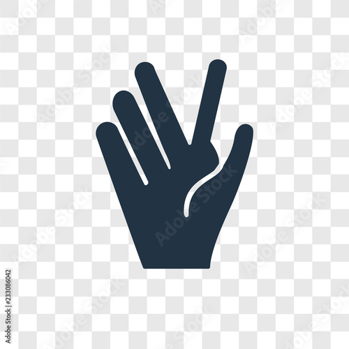 Photo  Vulcan salute vector icon isolated on transparent background, Vulcan salute tran