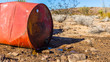 Oil Barrel Leaking in the Desert