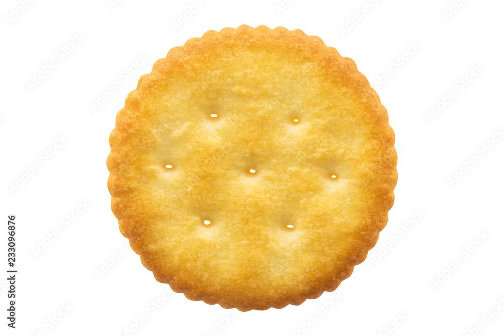 Fototapeta Circle cracker isolated on white background