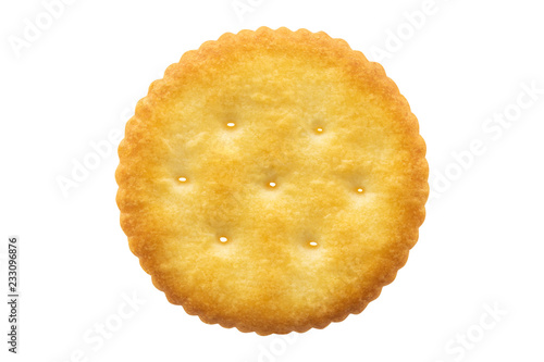 Circle cracker isolated on white background