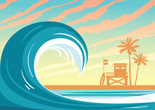 Wave, Sea, Lifeguard Station