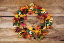 Fall Wreath With Viburnum And ...