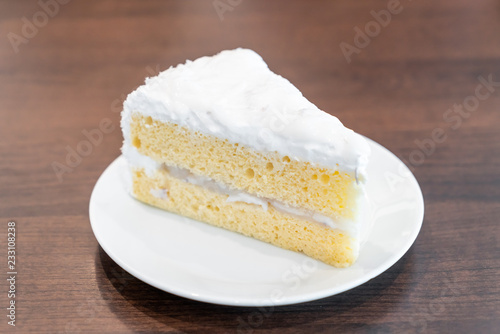 coconut cake on plate Poster Mural XXL