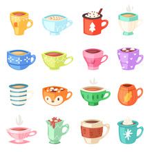 Cartoon Cup Vector Kids Mugs H...