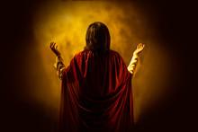 Rear View Of Jesus Christ Pray...