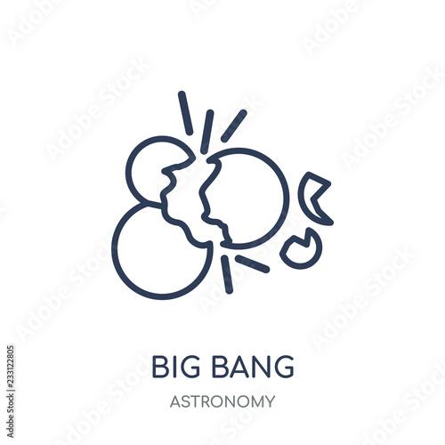 Big Bang Icon Big Bang Linear Symbol Design From Astronomy