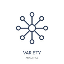 Variety Icon. Variety Linear Symbol Design From Analytics Collection.