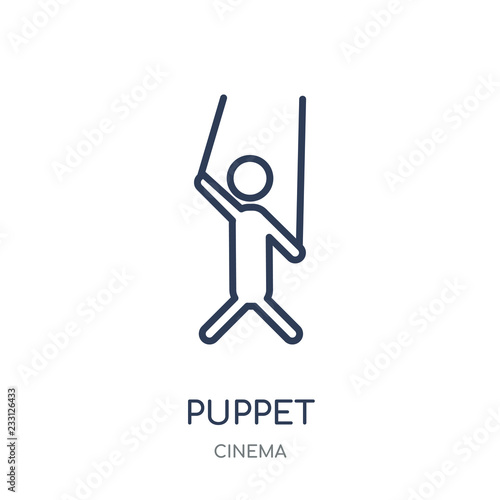 Photo  Puppet icon. Puppet linear symbol design from Cinema collection.