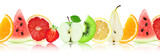 Fresh mixed fruits. Slices. Concept