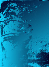 Abstract Vector Cosmic Psychedelic Blue And Turquoise Gradient Background. Fractal Shiny Elements.