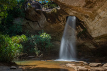 Sang Chan Waterfall (Moonlight Waterfall) At Pha Taem National Park ,Ubon Ratchathani Province,Thailand