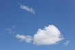 Cloud Shapes on beautiful blue sky, abstract clouds with blue sky